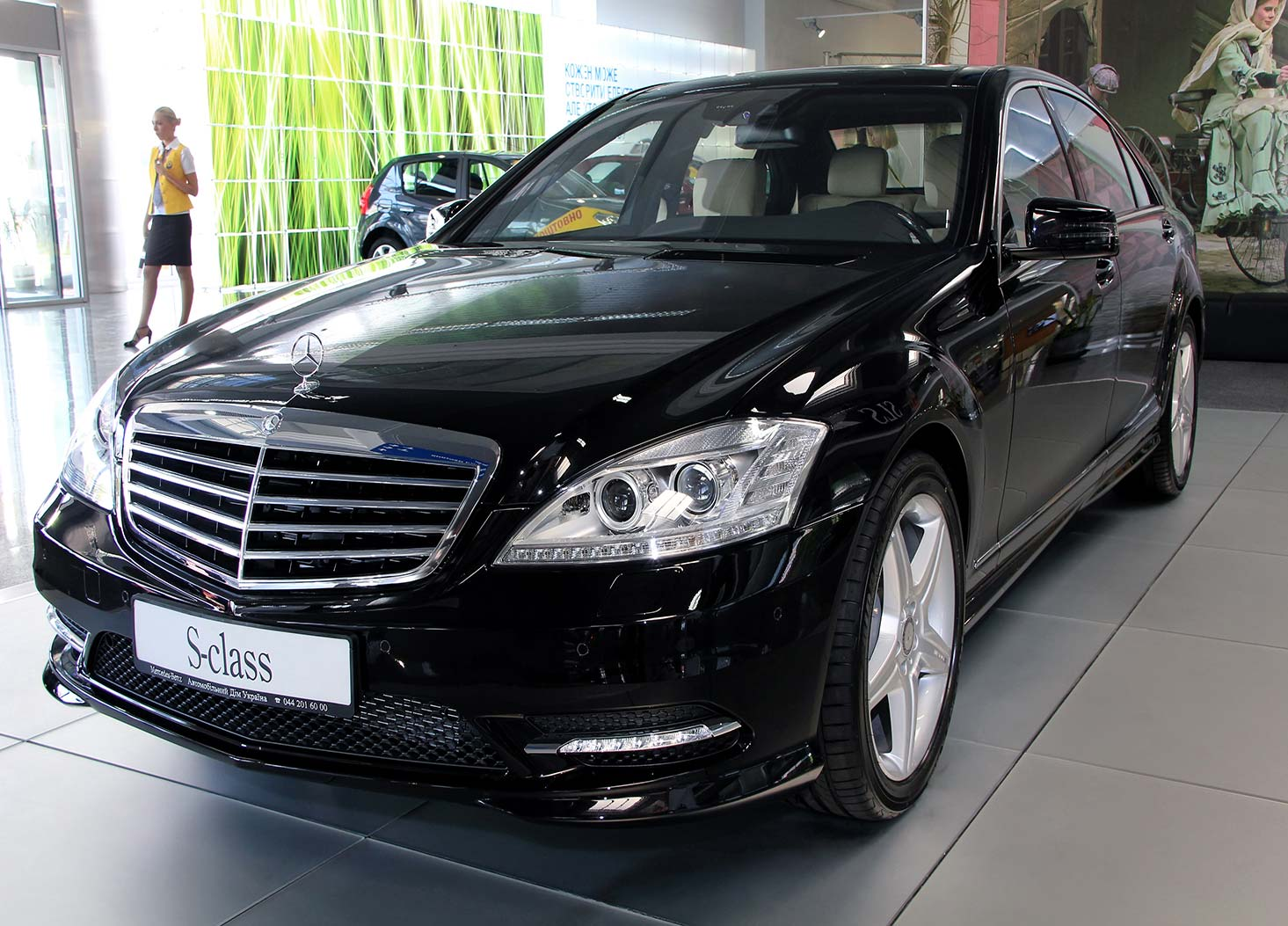 S-class Mercedes limo
